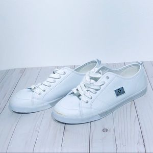 Guess Sneakers 12 White Lace Up Trainers Flats
